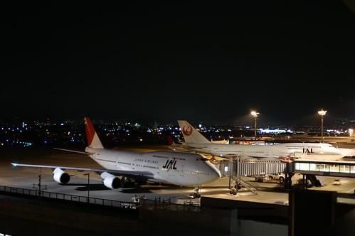 JAL B747-446D (JA8904 & JA8905) @ ITM/RJOO