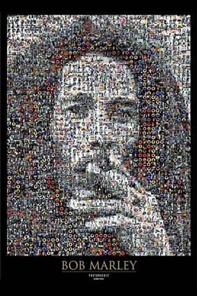 music_reggae_photography_photomosaic_bob marley_robert silvers_poster_668487101784 by futtrdoc.