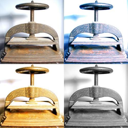Four Views of a Book Press
