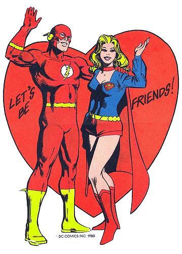 Flash & Supergirl Valentine