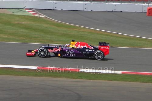 Daniel Ricciardo in the 2015 British Grand Prix at Silverstone