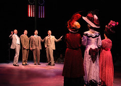 """The Quartet (L to R): Jack Doyle, Michael Dotson, J.D. Daw and Joseph Torello in the Music Circus production of """"The Music Man"""" at the Wells Fargo Pavilion July 31 - Aug 5. Photo by Charr Crail."""