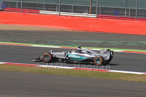 Lewis Hamilton in Free Practice 1 for the 2015 British Grand Prix at Silverstone