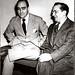 Candido Portinari com Oscar Niemayer. Rio de Janeiro, 1948.