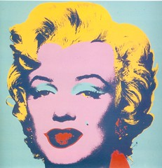Marilyn Monroe by Andy Warhol (and oddsock)