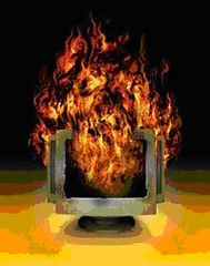 Computer on fire by Alexmuse, via flickr.com