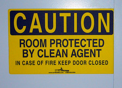 Room Protected by Clean Agent?