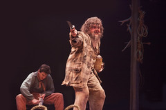 BIG_RIVE(L to R) Ben Fankhauser as Huck Finn and Rich Hebert as Pap Finn in Big River, produced by Music Circus at the Wells Fargo Pavilion June 23-28, 2015. Photos by Charr Crail.R_10