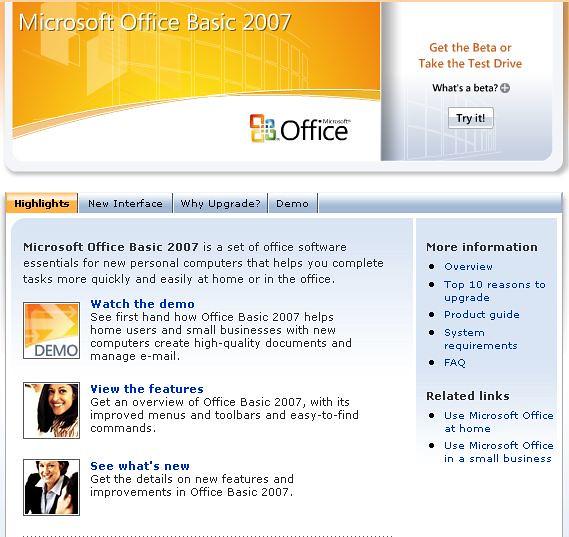 Prueba la beta de MS Office 2007 sin descargar ni instalar nada