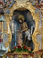 Wieskirche (Pilgrimage Church of the Scourged Saviour) - the statue of the whipped Christ in chains