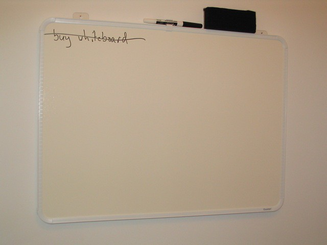 Buy whiteboard: done