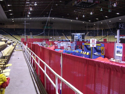 Pre-show view of the main arena