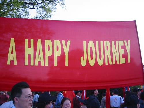 """... a happy journey"" for the Chinese president"