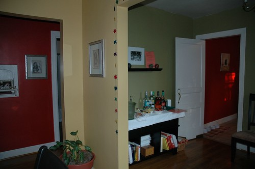 Hot Hallway and Kitchen Colors