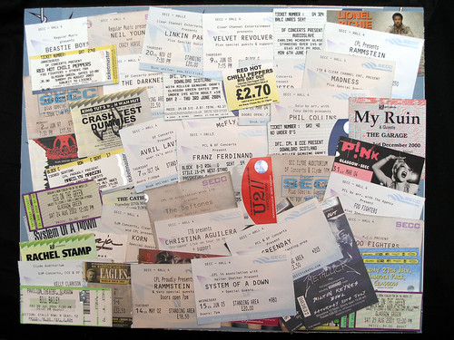 Gig Tickets, by Flickr user Limowreck666