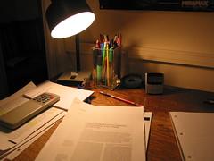 Overworked desk