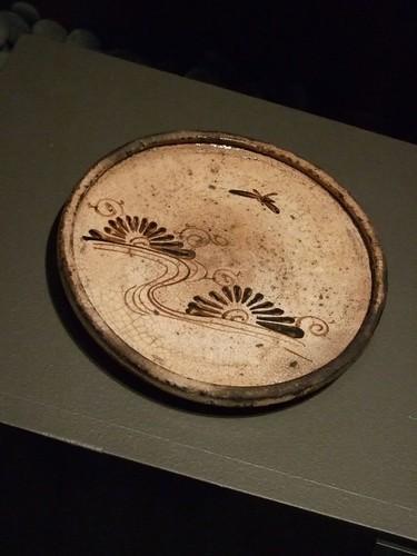 Seto Stoneware oil lantern plate 18th century CE Japan 1
