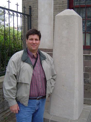 Rick Boyne at the Lottie Moon Monument in Penglai, China.