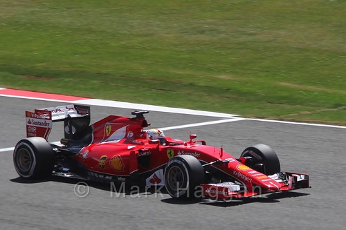 Sebastian Vettel's Ferrari in Qualifying at the 2015 British Grand Prix