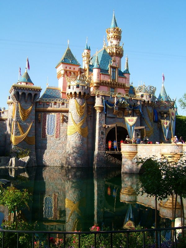 Castle reflection in the water