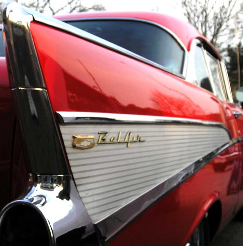 chevy bel air red