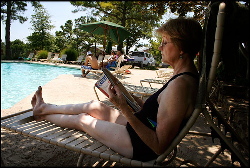 day 5: Mom at the pool