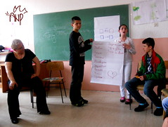 Emine working with Kids