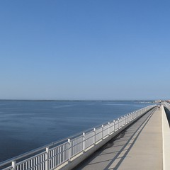 Admitted, this wasn't the first path I came to after waking up, but I think it was worth the wait. The Road Ahead. Day 99. Biloxi Bay Bridge in Biloxi, MS. #TheWorldWalk #travel #Mississippi #wwtheroadahead