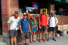 In Salida. From left to right: Squarl, RestStop, Holly, OD and yours truly