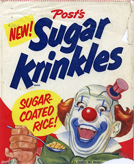 Sugar Krinkles cereal box