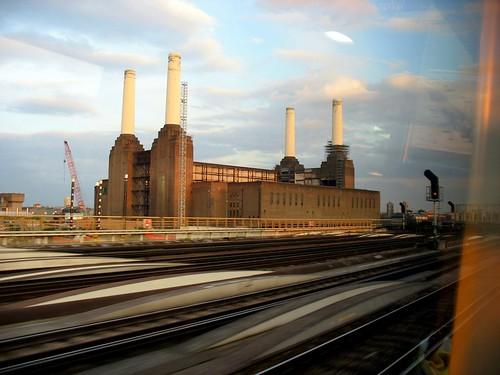 Battersea Power Station from Train, 29-04-06