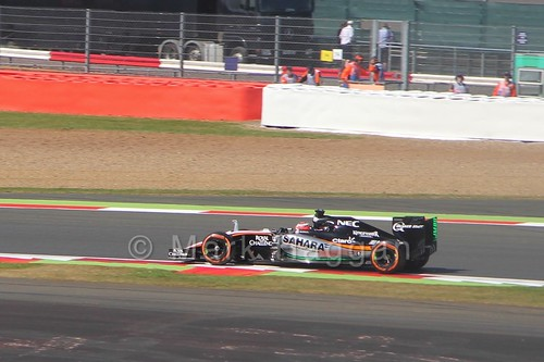 Nico Hulkenberg in Free Practice 1 at the 2015 British Grand Prix at Silverstone