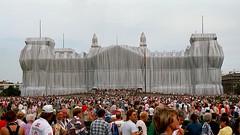 Verhüllter Reichstag und die