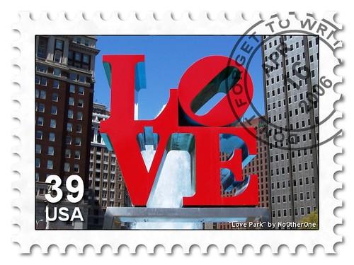 Love Park stamp