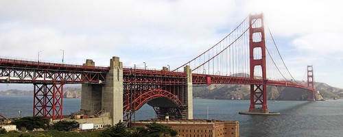 Golden Gate Nearby Pano