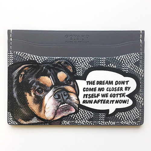 Goyard bulldog carlitos way cardholder