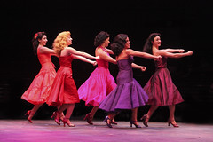 (L to R) Lauren Boyd, Selina Verastigui, Christie Portera, Desireé Davar and Jessica Lee Coffman in West Side Story, produced by Music Circus at the Wells Fargo Pavilion August 4-9, 2015. Photo by Charr Crail.