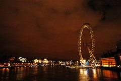 shot of the thames
