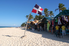 Flag on Bavaro Beach