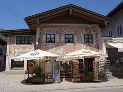 Oberammergau - typical fancifully painted house this one on the main tourist street
