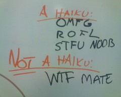 Whiteboard: A l33t haiku and somthing else.