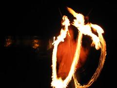Doug juggling fire