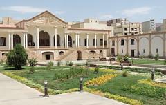 Tabriz Qajar palace garden and facade - Iran