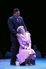 """Patrick Ryan Sullivan as Julian Marsh and Melissa Lone as Peggy Sawyer in the 2010 Music Circus production of """"42nd Street"""" at the Wells Fargo Pavilion August 24-29.  Photo by Charr Crail."""