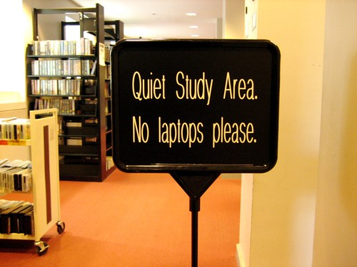 Sign at Newton Public Library, MA