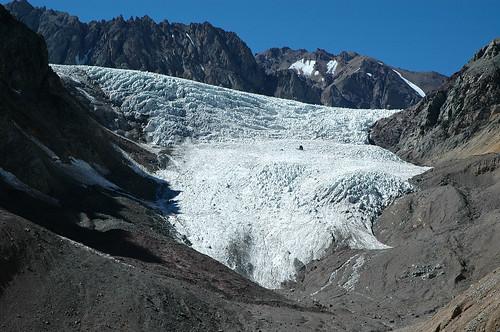 Glaciar el Plomo, Paso Francisco Moreno