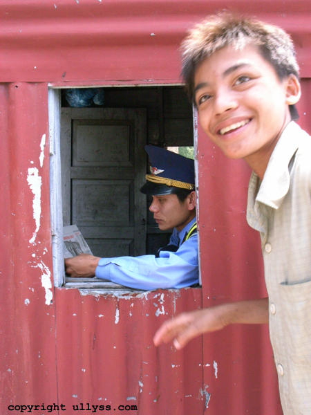The boy and the Railway attendant