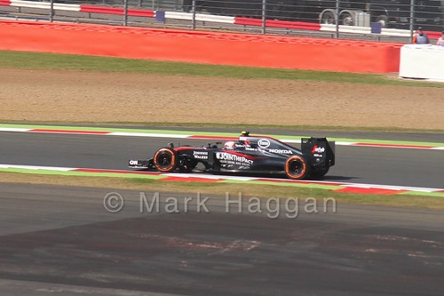 Jenson Button in Free Practice 1 for the 2015 British Grand Prix at Silverstone