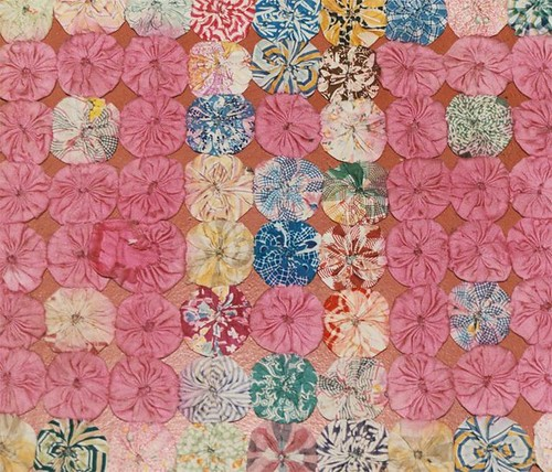 My Grandmother's Quilt-- each circle is a replica of the tip of an umbrella.  Photo by Emma Rosenthal