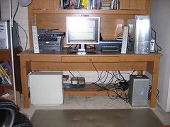 Computer Desk and Hutch